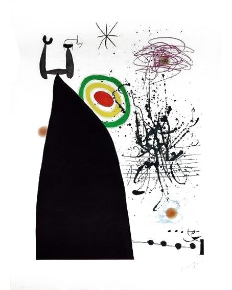 Chef-dOrchestre-Eau-forte-et-aquatinte-en-couleurs-3 - MIRO JOAN - Galeries Bartoux