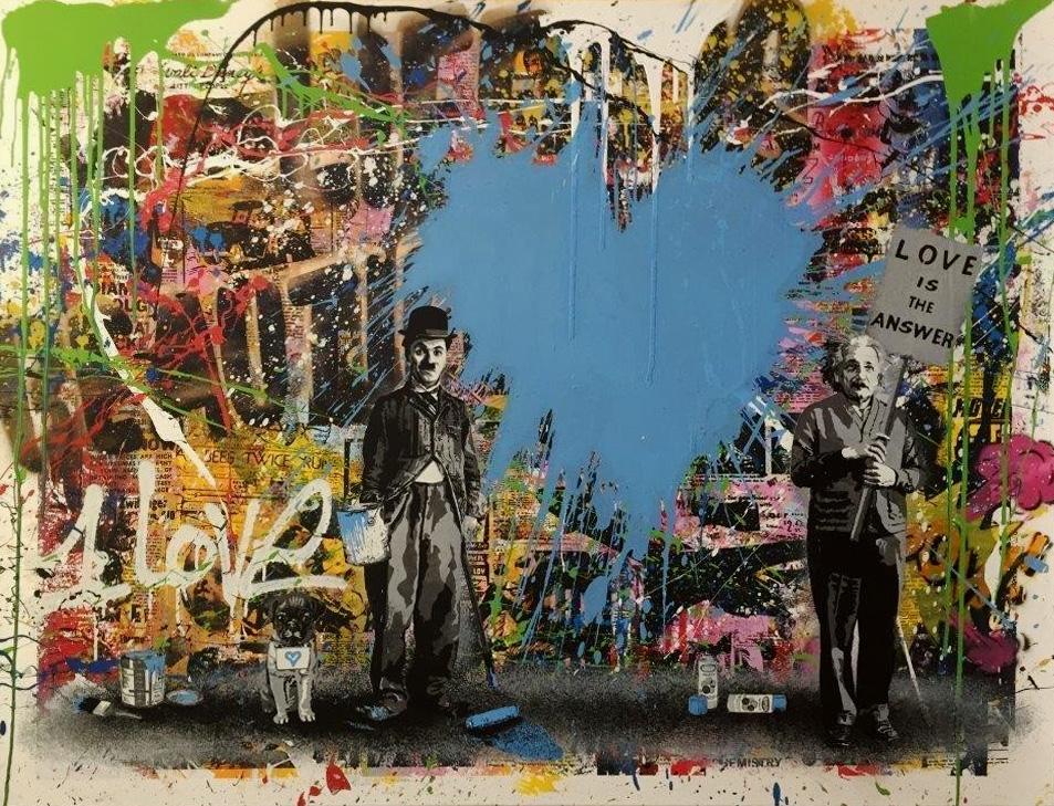 Juxtapose-Technique-mixte-127x97cm - MR BRAINWASH - Galeries Bartoux