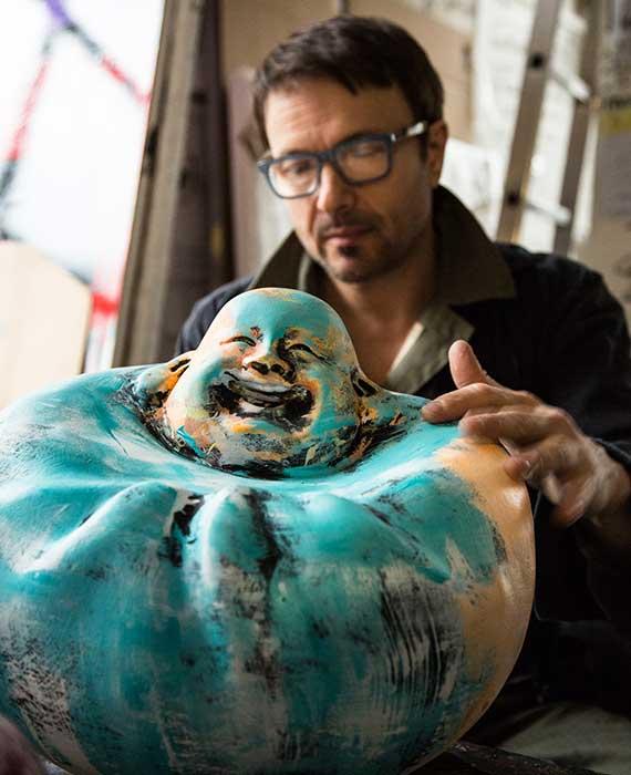 julien-marinetti-bouddha-bartoux-art - JULIEN MARINETTI – Le Bouddha Rieur 2017 - Galeries Bartoux
