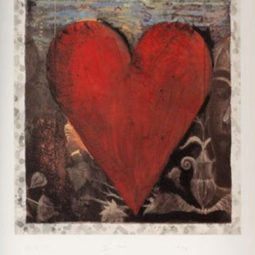 The hand colored Viennese heart I - DINE JIM - Galeries Bartoux