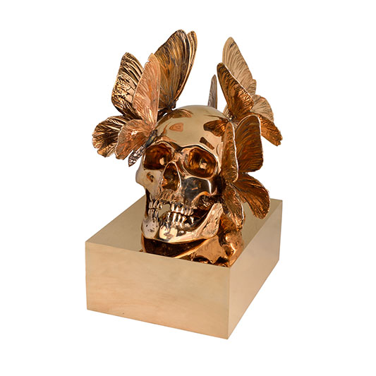 Crâne doré - PASQUA PHILIPPE - Galeries Bartoux