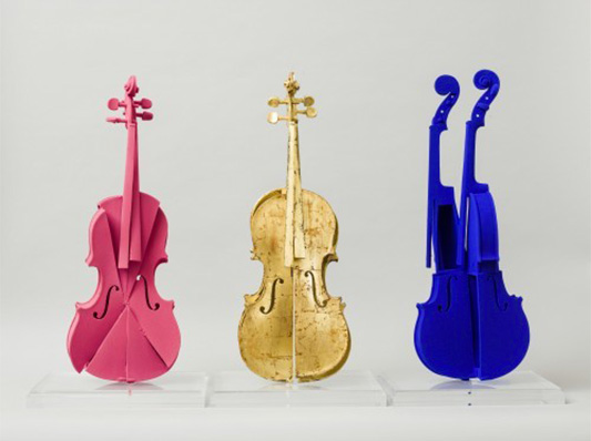 Hommage à Yves Klein 3 violons - ARMAN - Galeries Bartoux