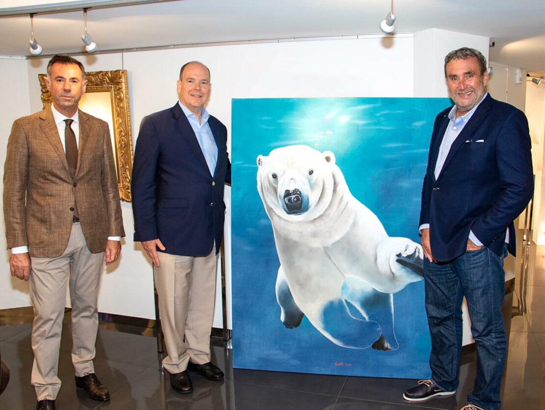 Galerie-bartoux-monaco-thierry-bisch-prince-albert-de-monaco - Save The Ocean - Galeries Bartoux