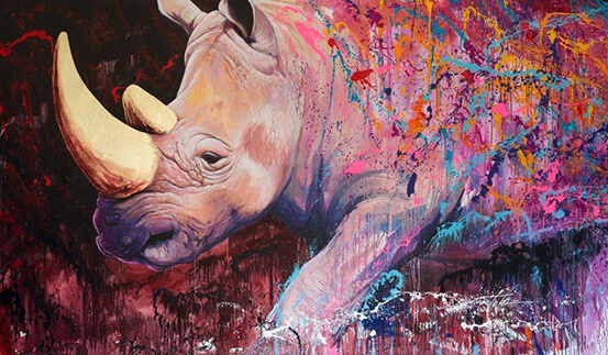 Rhino evaporation - NOE TWO - Galeries Bartoux