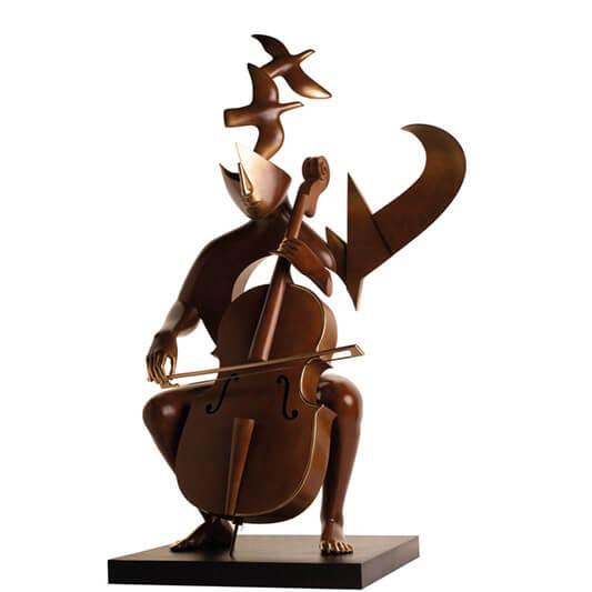 Le violoncelliste - ETIENNE - Galeries Bartoux