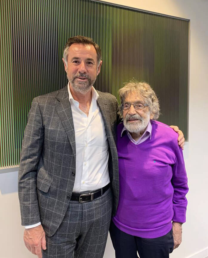 Robert Bartoux et Carlos Cruz-Diez - Hommage à Carlos Cruz-Diez - Galeries Bartoux