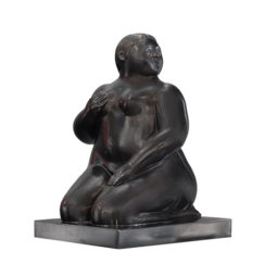 Small steated woman - BOTERO FERNANDO - Galeries Bartoux