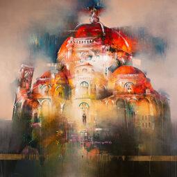Soulportrait n°19 olio su tela firenzes cathedral - CASCINI NADIA - Galeries Bartoux