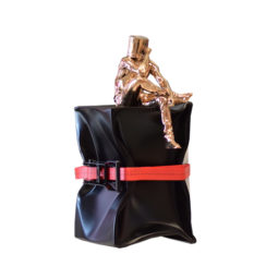 Oppress cube sangle rouge - DAVID DAVID - Galeries Bartoux