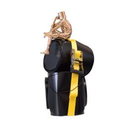 Oppress seau sangle jaune - DAVID DAVID - Galeries Bartoux