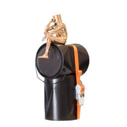 Oppress seau sangle orange - DAVID DAVID - Galeries Bartoux