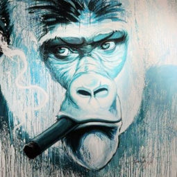 Yaounde bleu - Charity - Part of the profits will be donated to the Gorilla association - NOE TWO - Galeries Bartoux