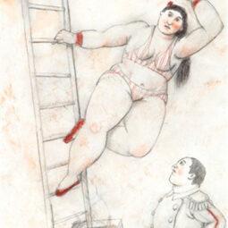 Une femme acrobate - BOTERO FERNANDO - Galeries Bartoux