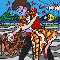 The orange dress - BRITTO ROMERO - Galeries Bartoux