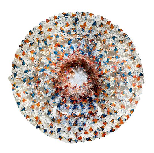 Dreamcatcher Orange Blue - ANNALU - Galeries Bartoux