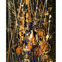 Instruments de musique traces de couleurs or - ARMAN - Galeries Bartoux