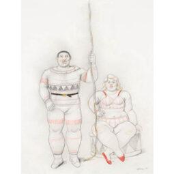 Two acrobats - BOTERO FERNANDO - Galeries Bartoux