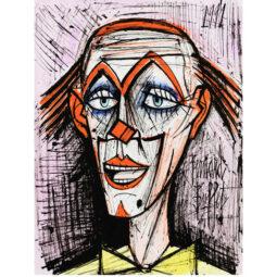Clown sur fond mauve - BUFFET BERNARD - Galeries Bartoux