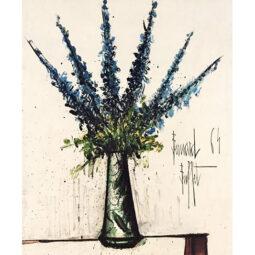 Delphiniums bleus - BUFFET BERNARD - Galeries Bartoux