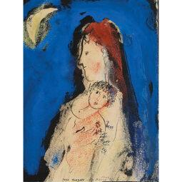 Maternité au croissant - CHAGALL MARC - Galeries Bartoux