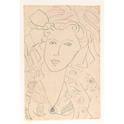 PORTRAIT DE FEMME AU COLLIER - MATISSE HENRI - Galeries Bartoux