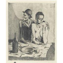 LE REPAS FRUGAL - PICASSO PABLO - Galeries Bartoux