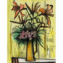Liliums et fleurs roses, 1978 - BUFFET BERNARD - Galeries Bartoux