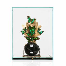 Chanel Black Pearl Gold Emerald - FERAL ROMAN - Galeries Bartoux