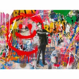 Spray happiness - MR BRAINWASH - Galeries Bartoux