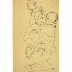 PAAR IM UMAMUNG COUPLE ENLACE - SCHIELE EGON - Galeries Bartoux